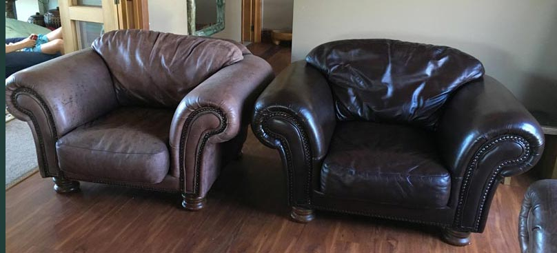 belinda leather chair restored