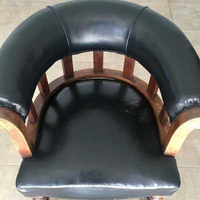 restored leather captains chair