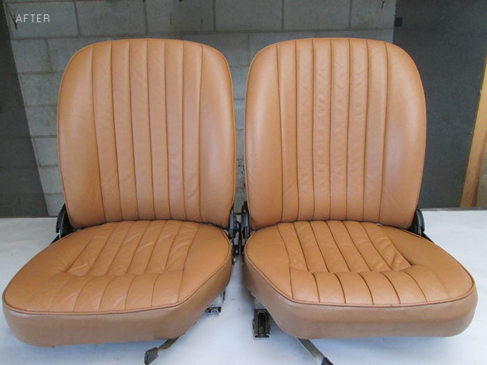 leather car seats finished