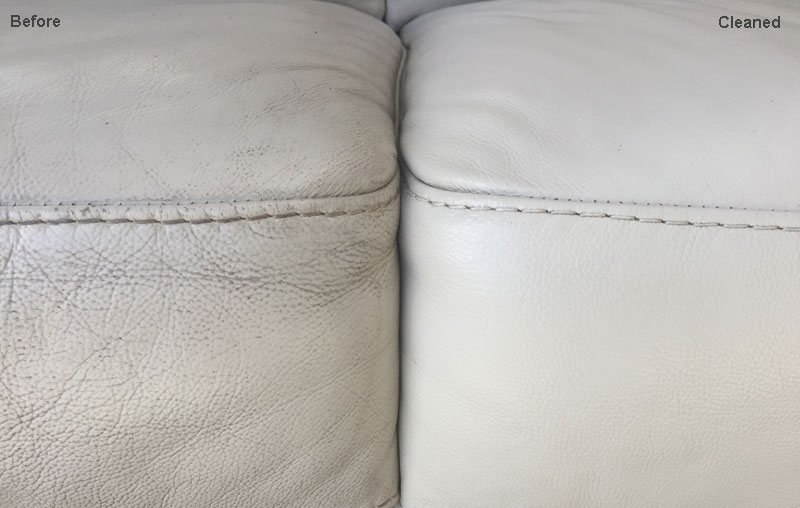 leather cleaning example