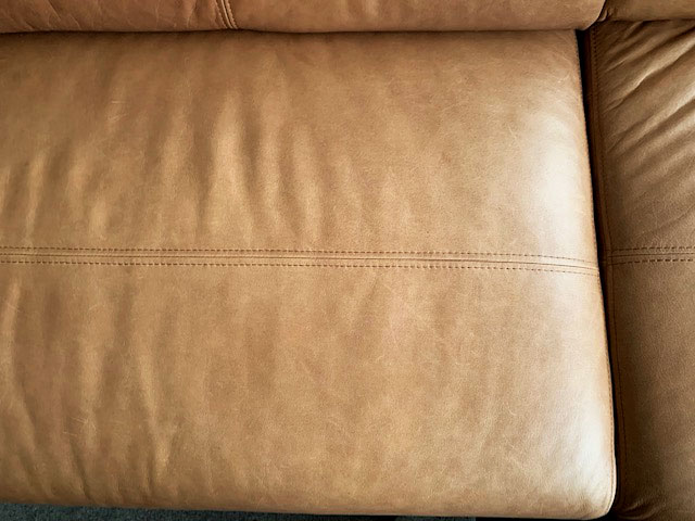 Leather couch after treatment