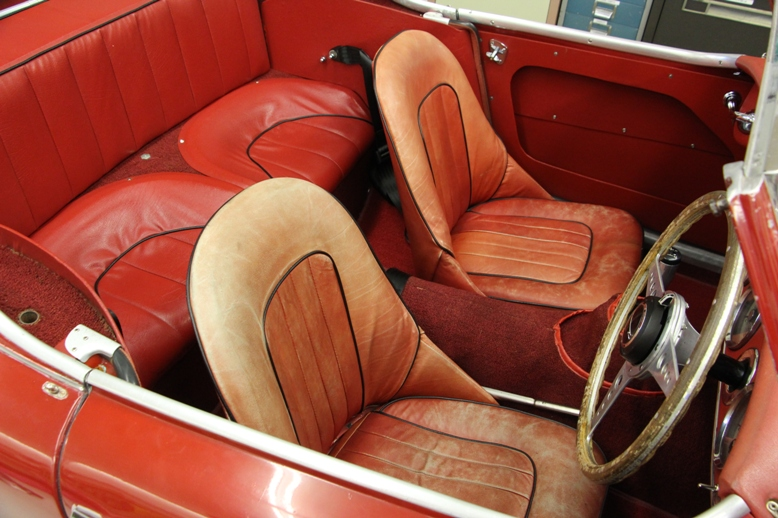 Austin Healey Leather Seats before