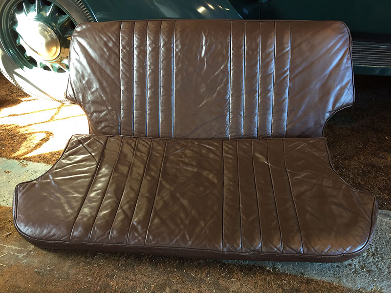 Refurbished leather seat