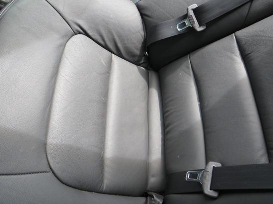 close up of rear seat