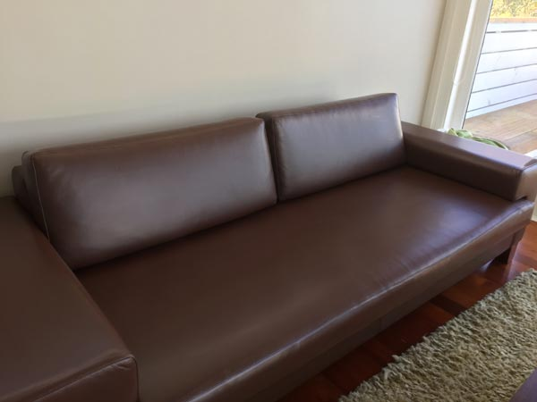 brown couch after