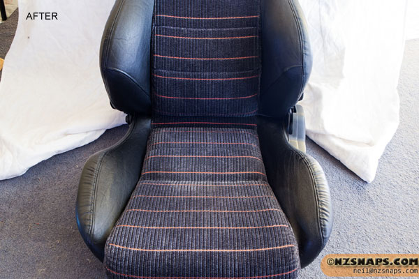 Black Leather Honda Seats Refinished