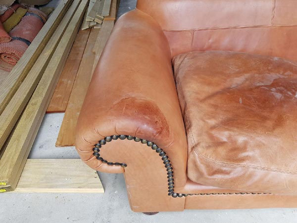 tan couch before
