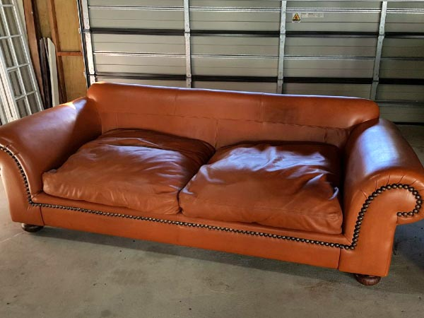 tan couch after