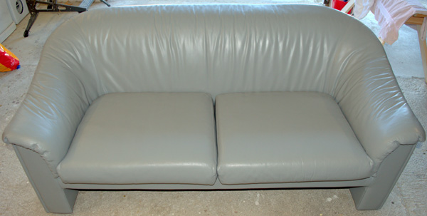 Pre-school leather couch restored