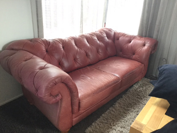 Faded Leather Couches