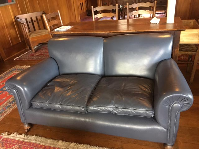leather couch after