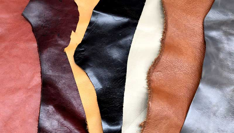 photo of different leathers