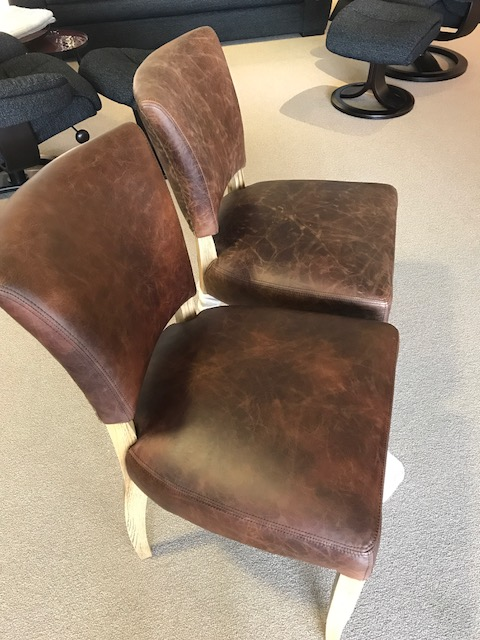 wax oil leather chairs before