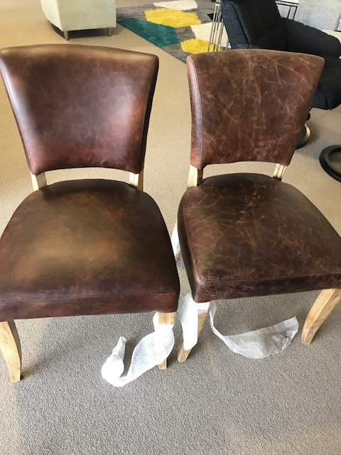 wax oil leather chairs after